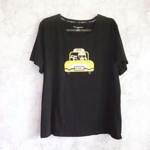 NEW Karl Lagerfeld black taxi tee size xl